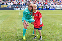 CHICAGO, IL - OCTOBER 06: Alyssa Naeher #1 of the United States during a game between the USA and Korea Republic at Soldier Field, on October 06, 2019 in Chicago, IL.