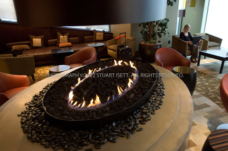 9/21/2006--Seattle, WA, USA..The 'Studio', off the main lobby at the Hotel 1000, a new futuristic hotel that opened in downtown Seattle in July, 2006. The hotel was developed to be Seattle's finest luxury boutique hotel...Photograph By Stuart Isett.All photographs ©2006 Stuart Isett.All rights reserved.