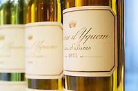 Chateau d'Yquem, Sauternes, Bordeaux. 2001, 1988, 1975. Bordeaux, France