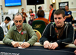 Team Pokerstars Pro Barry Greenstein is knocked out by Tom Middleton at right.