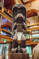Hawaiian carved wooden deity Ku, Bishop Museum, Honolulu