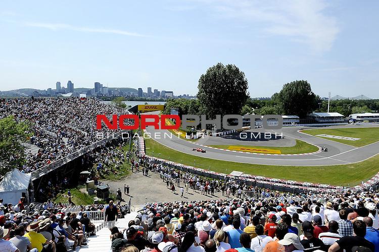 10.06.2011, Circuit Gilles Villeneuve, Montreal, CAN, Großer Preis von Kanada / Montreal, RACE 07, im Bild  DHL Branding - Fernando Alonso (ESP),  Scuderia Ferrari    Foto © nph / Dieter Mathis *** Local Caption ***
