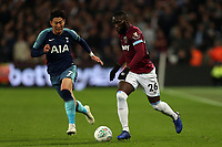 Arthur Masuaku of West Ham United and Son Heung-Min of Tottenham Hotspur during West Ham United vs Tottenham Hotspur, Caraboa Cup Football at The London Stadium on 31st October 2018