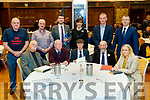 Kerry Election candidates, front from left: John Bowler, Irish Freedom Party, John Brassil TD, Fianna Fáil, Michael Healy-Rae TD, Independent, Danny Healy-Rae TD, Independent and Norma Moriarty, Fianna Fáil. Back row from left: Ted Cronin, Independent For Animal Welfare, Sonny Foran, Aontú, Brendan Griffin TD, Fine Gael, Norma Foley,Fianna Fáil, Michael Kennelly, Fine Gael and Pa Daly, Sinn Fein.