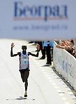 ATLETIKA, Beograd, 18. Apr. 2009. - Kenijski atleticar Kigen Victor Kiplagat pobednik je 22. Beogradskog maratona. FOTO  NENAD NEGOVANOVIC