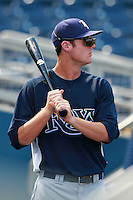 Tampa Bay Rays minor league outfielder Todd Glaesmann during an Instructional League game vs. the Minnesota Twins at Charlotte Sports Park in Port Charlotte, Florida;  October 5, 2010.  Photo By Mike Janes/Four Seam Images