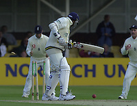 31/05/2002.Sport -Cricket - 2nd NPower Test -Second Day.England vs Sri Lanka.Chaminda Vaas, losing his wicket.. [Mandatory Credit Peter Spurrier:Intersport Images]