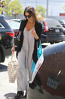 Jessica Alba seen arriving at her office at The Honest Company in Santa Monica, California on May 20, 2014. Photo Credit: SP/MPI/Retna Ltd.