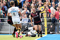 Chris Wyles of Saracens celebrates his first half try. Aviva Premiership match, between Saracens and Wasps on October 8, 2017 at Allianz Park in London, England. Photo by: Patrick Khachfe / JMP