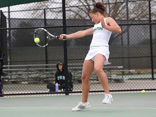 DENTON, TX - APRIL 5: Anastasiya Shestakovaat Waranch Tennis Center in Denton on April 5, 2014 in Denton, Texas. Photo by Rick Yeatts