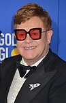 Elton Jones 151 poses in the press room with awards at the 77th Annual Golden Globe Awards at The Beverly Hilton Hotel on January 05, 2020 in Beverly Hills, California.
