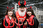 Didi the Devil with his helpers before the start of the 2018 Saitama Criterium, Japan. 4th November 2018.<br /> Picture: ASO/Pauline Ballet | Cyclefile<br /> <br /> <br /> All photos usage must carry mandatory copyright credit (&copy; Cyclefile | ASO/Pauline Ballet)