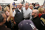 Former Florida Gov. Jeb Bush poses for photos with members of the audience following a town hall meeting in Reno, Nev., on Wednesday, May 13, 2015. <br /> Photo by Cathleen Allison