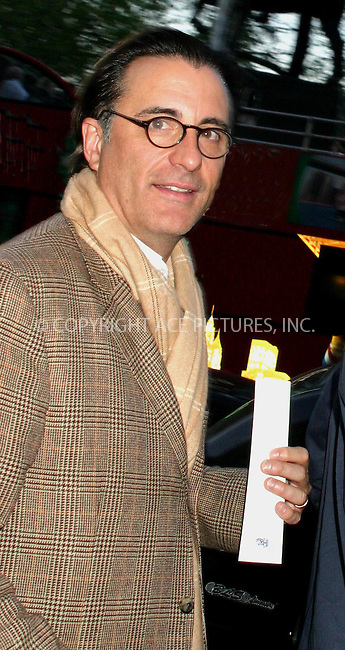 andy garcia steps out for a night on the town in nyc.  bocklet