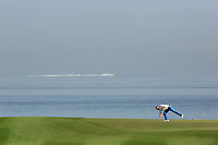 Raphael Jacquelin (FRA) on 11 during the third round of the NBO Open played at Al Mouj Golf, Muscat, Sultanate of Oman. <br /> 17/02/2018.<br /> Picture: Golffile | Phil Inglis<br /> <br /> <br /> All photo usage must carry mandatory copyright credit (&copy; Golffile | Phil Inglis)
