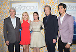 Actors Sam Waterston, Alison Pill, Olivia Munn, Jeff Daniels, and Dev Patel<br />  at The  Los Angeles Season 3 Premiere of HBO's series THE NEWSROOM held at The DGA in West Hollywood, California on November 04,2014                                                                               &copy; 2014 Hollywood Press Agency