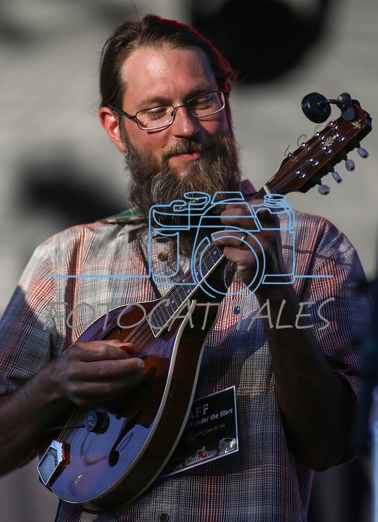 Carson City's Cory King performs with the Rowan Brothers at the 8th Annual Concert Under the Stars in Carson City, Nev., on Thursday, July 14, 2016.<br />Photo by Cathleen Allison