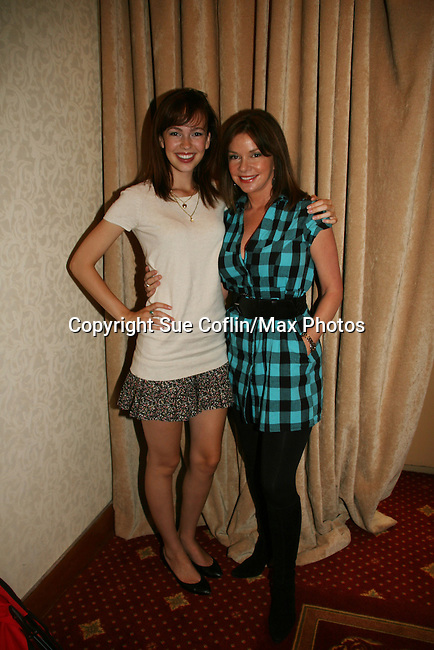 Brittany Allen & Bobbie Eakes attend All My Children Fan Luncheon on September 13, 2009 at the New York Helmsley Hotel, NYC, NY. (Photo by Sue Coflin/Max Photos)