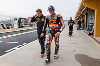 Marc Marquez, Moto2 World Champion and Emili Alzamora, Team Manager