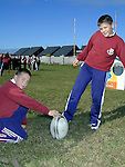 Stephen Callan, Dunleer and Paul Baylon, Ardee at the Nike Rugby Training..Picture Paul Mohan Newsfile