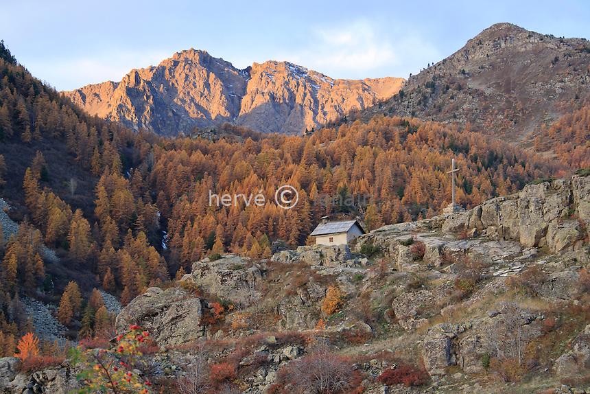 France, Hautes-Alpes (05), Vallée de la Clarée, Névache, chapelle de Bon-Secours // France, Hautes Alpes, Valley of Claree, Nevache, chapel of Bon Secours (good help)