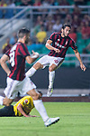 AC Milan Midfielder Hakan Calhanoglu (R) attempts a kick during the International Champions Cup 2017 match between AC Milan vs Borussia Dortmund at University Town Sports Centre Stadium on July 18, 2017 in Guangzhou, China. Photo by Marcio Rodrigo Machado / Power Sport Images