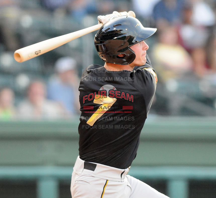 Infielder Jarek Cunningham (7) of the West Virginia Power, Class A affiliate of the Pittsburgh Pirates, at a game against the Greenville Drive April 29, 2010, at Fluor Field at the West End in Greenville, S.C. Photo by: Tom Priddy/Four Seam Images