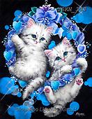 Kayomi, CUTE ANIMALS, LUSTIGE TIERE, ANIMALITOS DIVERTIDOS, paintings+++++,USKH333,#ac#, EVERYDAY ,cat,cats