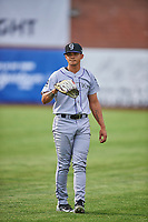 Grand Junction Rockies starting pitcher Miguel Ausua (11) before the game against the Ogden Raptors at Lindquist Field on June 17, 2019 in Ogden, Utah. The Rockies defeated the Raptors 9-0. (Stephen Smith/Four Seam Images)