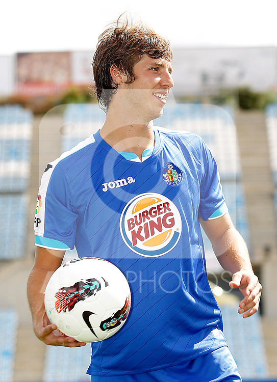 Getafe's new player Ruben Perez during his official presentation. September 2, 2011. (ALTERPHOTOS/Acero)