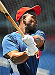 3 July 2010: Washington Nationals' outfielder Roger Bernadina warms up prior to a game against the New York Mets at Nationals Park in Washington, DC. The Nationals defeated the Mets 6-5 in the third game of their 4-game series. Mandatory Credit: Ed Wolfstein Photo