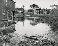 1953 October 23..Redevelopment..Tidewater Gardens (6-2 & 6-9).Slum Conditions.Between 11:30AM and 12 noon (high tide at 9AM)..PHOTO CRAFTSMEN INC..NEG# 18-639.645..