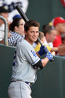 Chattanooga Lookouts shortstop Corey Seager (12) in the dugout during game three of the Southern League Championship Series against the Jacksonville Suns on September 12, 2014 at Bragan Field in Jacksonville, Florida.  Jacksonville defeated Chattanooga 6-1 to sweep three games to none.  (Mike Janes/Four Seam Images)