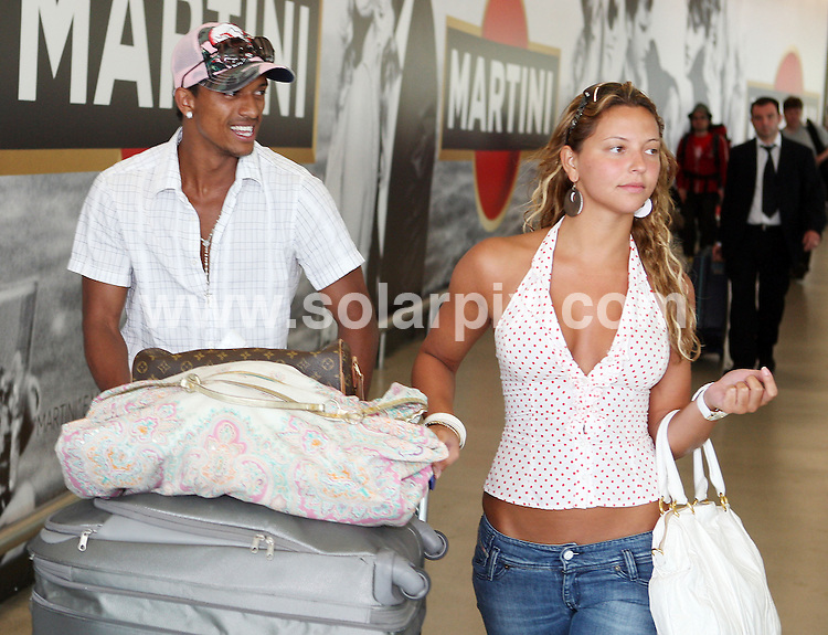 "**ALL ROUND PICTURES FROM SOLARPIX.COM**.**WORDLDWIDE SYNDICATION RIGHTS**.**NO RIGHTS FOR PORTUGAL & SPAIN**.Manchester United FC Winger Lus Carlos Almeida da Cunha  commonly known as ""Nani"" The  Portuguese football player arrived today with his model girlfriend  Daniela Martins ?(please ID) at Lisbon airport....This pic:Lus Carlos Almeida da Cunha & Girlfriend..JOB REF:9352      NPP/       DATE:27.06.09.**MUST CREDIT SOLARPIX.COM OR DOUBLE FEE WILL BE CHARGED**.**NO ONLINE USAGE BEFORE FEE  AGREED**.**CALL SOLARPIX : +34 952 811 768 or LOW RATE FROM UK 0844 617 7637**."