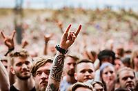 Copenhell 2019 Trivium på Helviti.<br /> <br /> Copenhell 2019 on Refshaleøen in Copenhagen Denmark<br /> Foto: Jens Panduro