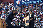 December 9, 2007. Columbia, SC.. Democratic presidential hopeful and US Senator, Barack Obama held a rally for an estimated 29,000 people at the University of South Carolina's football stadium with special guest Oprah Winfrey.. Barack Obama hams it up for the crowd, with Oprah and Michelle looking on.. .