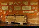 Ancient Sarcophagus Tomb Markers and Artifacts in Narthex Santa Sabina Aventine Hill Rome