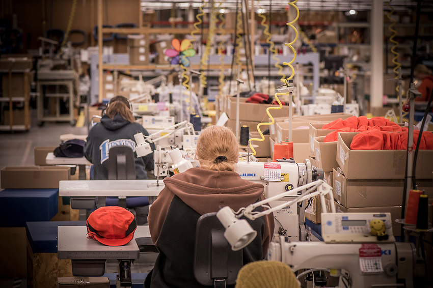 The Stormy Kromer manufacturing process at the Ironwood, Michigan production facility.