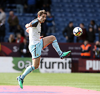 Burnley's James Tarkowski during the pre-match warm-up <br /> <br /> Photographer Rich Linley/CameraSport<br /> <br /> The Premier League - Burnley v Leicester City - Saturday 14th April 2018 - Turf Moor - Burnley<br /> <br /> World Copyright &copy; 2018 CameraSport. All rights reserved. 43 Linden Ave. Countesthorpe. Leicester. England. LE8 5PG - Tel: +44 (0) 116 277 4147 - admin@camerasport.com - www.camerasport.com