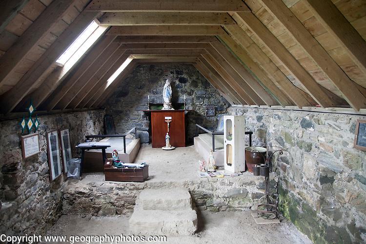 Ancient Celtic Christian Cille Bharra chapel, Eoligarry, Barra, Outer Hebrides, Scotland, UK