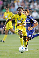 Emmauel Ekpo..Columbus Crew defeated Kansas City Wizards 2-0 at Community America Ballpark, Kansas  City, Kansas.