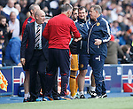 Mark Warburton and Mark McGhee at full-time