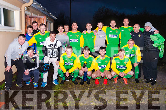 A happy and relieved Kerry DL squad after an intense game on Sunday at Mounthawk Park. Sunday's game against the Limerick DL team saw the initial game finish 1-1, then with no goals scored by either team during extra time, it went to penalties with Kerry finally winning 4-3.
