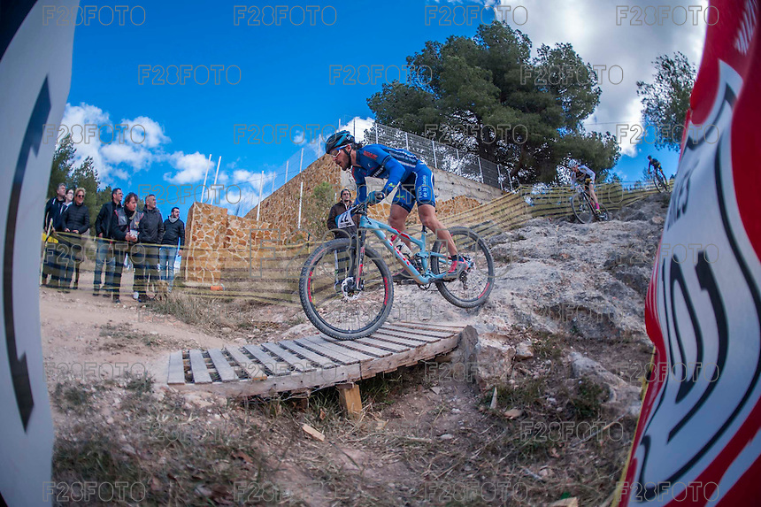 Chelva, SPAIN - MARCH 6: Salvador Moll during Spanish Open BTT XCO on March 6, 2016 in Chelva, Spain