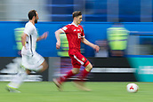 17th June 2017, St Petersburg, Russia; FIFA 2017 Confederations Cup football, Russia versus New Zealand; Group A - Saint Petersburg Stadium,  Russia's Alexey Miranchuk (r) and New Zealand's Andrew Durante vie for the ball during the Confederations Cup Group A soccer match between Russia and New Zealand at the stadium in Saint Petersburg, Russia, 17 June 2017.