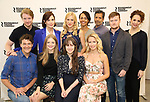 Elizabeth McGovern with the cast and creative team attends the press photo call for the Roundabout Theatre Company's production of  'Time and the Conways' at The Roundabout Theatre Studios on August 24, 2017 in New York City.