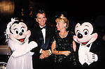 Dick Clark and wife .with  with Mickey Mouse & Minnie Mouse.Attending the Academy of Television Arts and Sciences'.Hall of Fame Awards at Walt Disney World in Orlando, Florida..October 5, 1996.