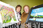 Maud Malone Killarney and Eileen Murphy Fossa at the Adult art class exhibition in Killarney Community College on Thursday..