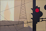 First and Stewart, Seattle, acrylic painting, 24x36, signed, Joel W Rogers, artist,  April 14 2019, Number 4 of 40, 4/40, art, paintings,