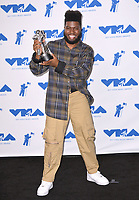 Khalid in the press room for the 2017 MTV Video Music Awards at The &quot;Fabulous&quot; Forum, Los Angeles, USA 27 Aug. 2017<br /> Picture: Paul Smith/Featureflash/SilverHub 0208 004 5359 sales@silverhubmedia.com